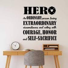 Firefighter Wall Decal Hero Definition Fireman Lettering