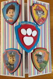 Paw Patrol Birthday Card Tarjetas