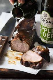 apple cider glazed pork tenderloin
