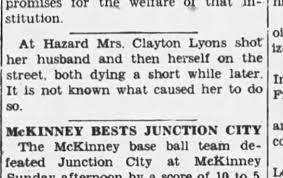 Myrtle Morris shot husband Clayton Lyons, then herself - Newspapers.com