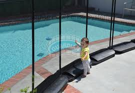No Holes Portable Pool Safety Fence No Holes In Deck