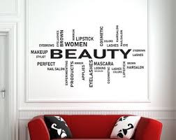 Makeup Wall Decals Etsy