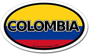 Amazon Com Colombia And Colombian Flag Car Bumper Sticker Decal Oval Arts Crafts Sewing