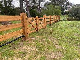 Mitred Post And Rail Fencing