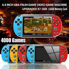 Máy Chơi Game Cầm Tay Psp 4.3 / Ps4 4000 + Games 32gb Rom X7 Psp 4.3 / Ps4