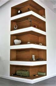dining room floating shelves wall