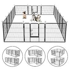 Bonnlo 30 Inch Dog Pet Exercise Fence Playpen With Door For Large And Small Dogs Portable Freestanding Xpen Indoor Outdoor 16 Panels Buy Products Online With Ubuy Morocco In Affordable Prices B07wdzr7yy