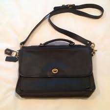 vintage coach black genuine leather