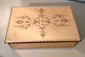 mirrrored french jewellery box c1930