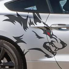 Coyote Wolf Head Outline Mustang Tattoo Grunge Design Tribal Etsy In 2020 Mustang Tattoo Vinyl Decals Mustang
