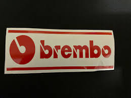 Brembo Brakes Vinyl Decal Sticker Car Window Bumper 8 Colors Custom 2 5 X7 Ebay