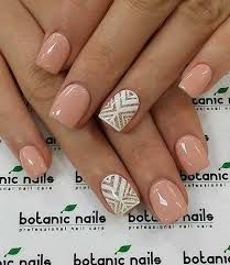 white ring finger nail art design