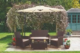 4pc rattan garden lounge set