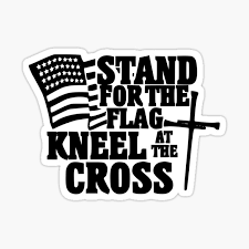 Stand For The Flag Kneel Cross Stickers Redbubble
