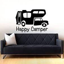 Amazon Com Ditooms Happy Camper Wall Decal Art Decor Sticker Vinyl Rv Decal Happy Camper Decal Camping Sticker Decal Wanderlust Decal Sticker Camper Decal Home Kitchen