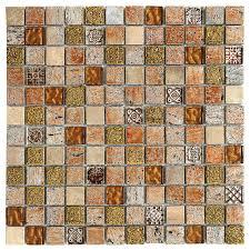 travertine glass mosaic backsplash tile
