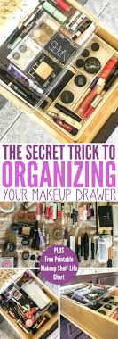 organizing your makeup drawer