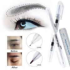 marker eyebrow marker pen tattoo skin