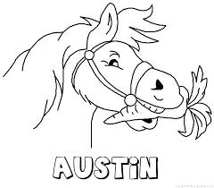 Austin Naam Kleurplaten