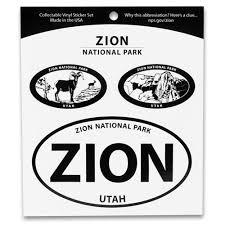 Zion National Park Triple Decal Shop Americas National Parks
