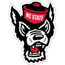Nc State Wolfpack Wolfhead Vinyl Decal Red And White Shop