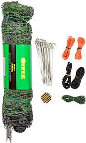 Amazon Com Powerfields P 89 G Electric 40 Poultry Goat Fence Netting 40 Inches Tall X 165 Feet Long Netting 15 Line Post 19 Stakes 2 Tie Down Cords Repair Kit Black White Netting Agricultural Fence