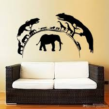 African Vinyl Wall Decal For Living Room Nature Wild Animals Elephant Wall Stickers For Company Office Room Decoration Bird Wall Decals Bird Wall Stickers From Joystickers 9 95 Dhgate Com