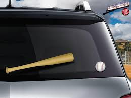 Baseball Softball Bat Wipertags Cover Attach To Rear Wiper Blade With Ball Wipertags