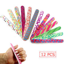 12 pcs nail file double sided emery