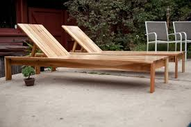 modern single outdoor chaise lounge