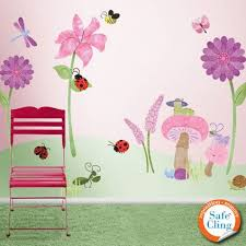 Bugs And Blossoms Flower Garden Wall Decals For Girls Room Etsy Girls Wall Stickers My Wonderful Walls Flower Wall Stickers