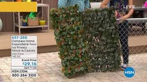 Compass Home Expandable Faux Ivy Privacy Fence With Leav Youtube