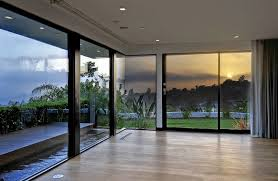 room with floor to ceiling windows