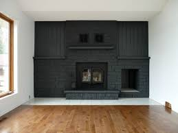 charcoal grey painted fireplace grey