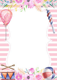 Free Printable Pink Carnival Birthday Invitation Template Con
