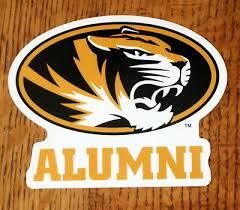 University Of Missouri Mizzou Alumni Tiger Ncaa Die Cut Window Decal Car Sticker Ebay