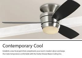 flush mount ceiling fan with light kit