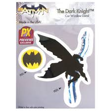 Batman The Dark Knight Returns Lightning Vinyl Decal Previews Exclusive