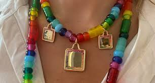 colorful necklaces are a summertime hit