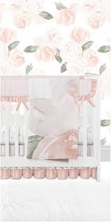 fl crib bedding rose cribset