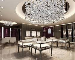 luxury interior of jewellery showroom
