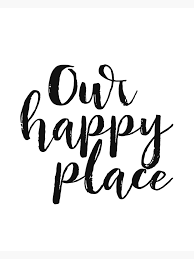 Kitchen Decor Printable Quote Our Happy Place Printable Kitchen Wall Art Love Quote Black And White Large Poster Greeting Card By Nathanmoore Redbubble