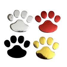 Car Sticker Cool Design Paw 3d Animal Dog Cat Bear Foot Prints Footprint 3m Decal Car Stickers Silver Gold Red Sadoun Sales International
