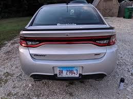 Spent The Day Removing The Dealership Sticker A Window Decal And Blacking Out The Chrome Trim Pieces My Dart Is Looking A Lot Meaner Because Of It Now Dodge