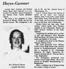 L. K. Gumaer / R. D. Hayes are married - Newspapers.com