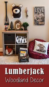 I Love This Woodland Lumberjack Theme Kids Room Decor We Are A Hunting Fishing Nature Family And I Want To Incor Boys Room Decor Woodland Nursery Boy Boy Room