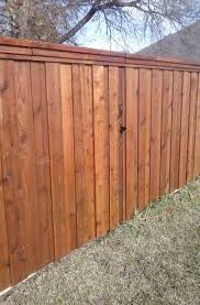 E Pre Stained All Cedar Fence Goins Fencing