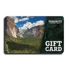 yosemite national park gift cards