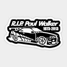 Amazon Com Rip Paul Walker Car Decal Sticker Graphic Car Vinyl Sticker Decal Bumper Sticker For Auto Cars Trucks Kitchen Dining