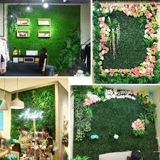 Artificial Plant Foliage Hedge Grass Mat Greenery Panel Decor Wall Fence 60x40cm Ebay Artificial Grass Wall Green Wall Plants Plant Wall